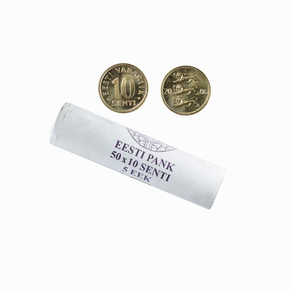 Estonia 10 Senti Mint Roll - 50 coins