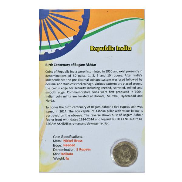 Republic of India - Birth Centenary of Begum Akhtar