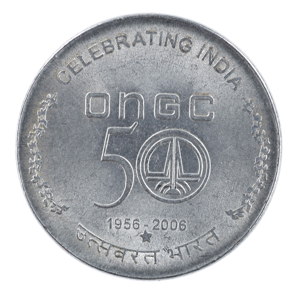 Republic India -5 Rupees ONGC 50