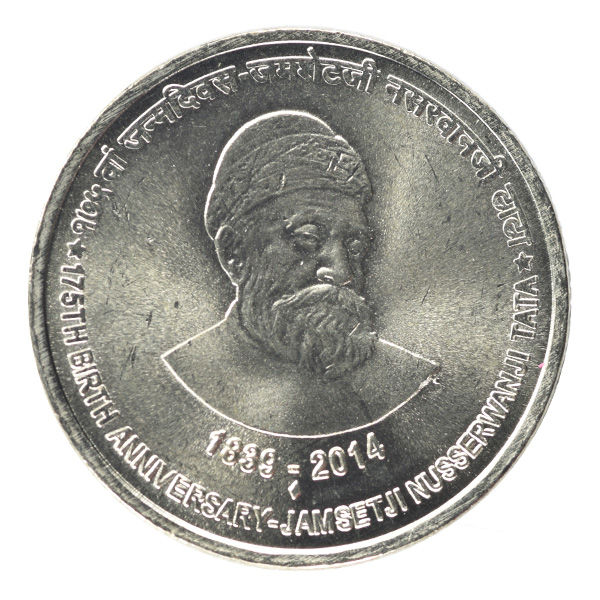 Jamshetji Nusserwanji Tata 5 Rupees Commemorative Coin - Republic of India