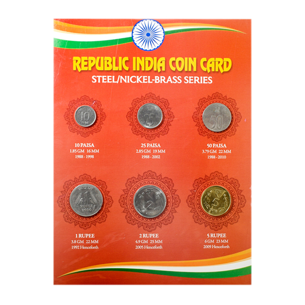 Republic India  Steel-nickel brass Coin series
