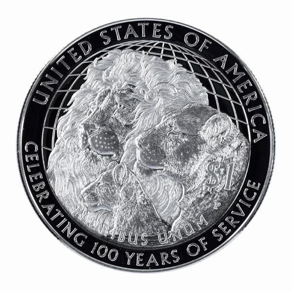 Lions Clubs International 2017 Centennial Proof Silver Dollar Coin
