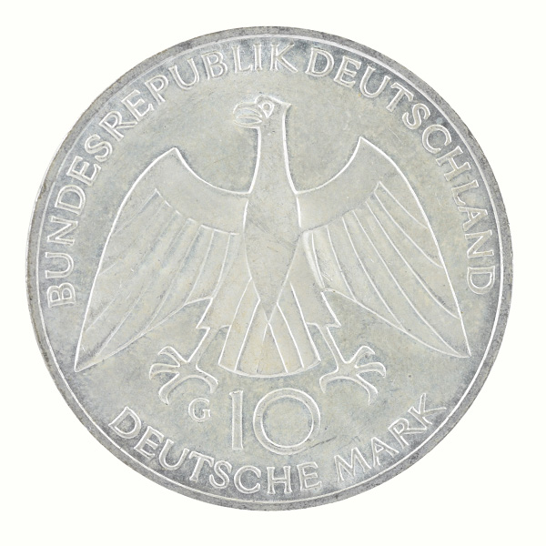 Federal Republic of Germany- 10 Mark commemorative coin with Schleife Knot of Munich Olympic Series