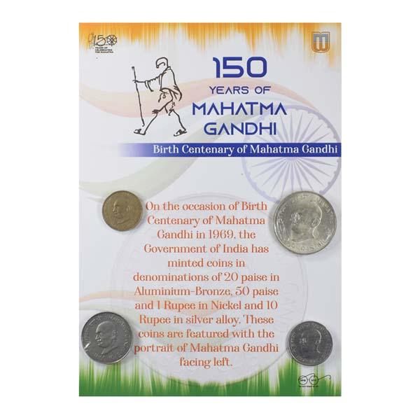 Mahatma Gandhi Commemorative Coins - Set of 4