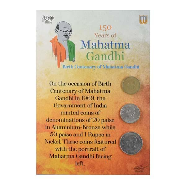 Mahatma Gandhi Commemorative Coins - Set of 3