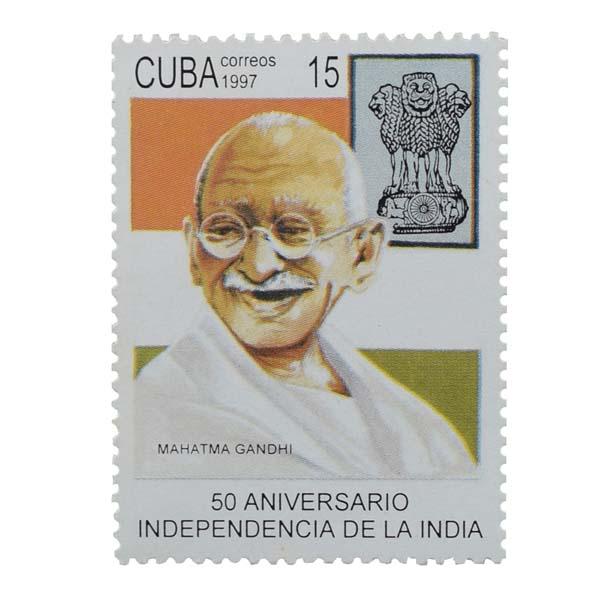 Mahatma Gandhi Postage Stamp - Single stamp of Cuba