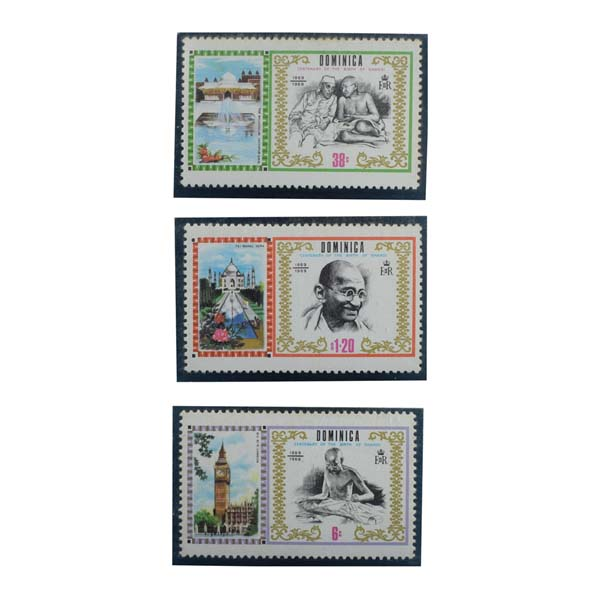Mahatma Gandhi Postage Stamp - Set of 2 Stamps of Dominica