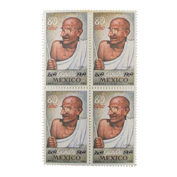 Mahatma Gandhi Postage Stamp - Single Stamp of Mexico