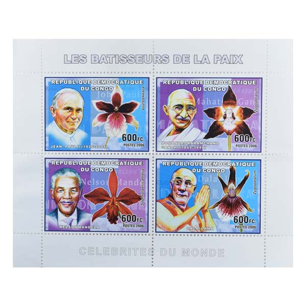 Mahatma Gandhi Postage Stamp - Sheetlet of Congo