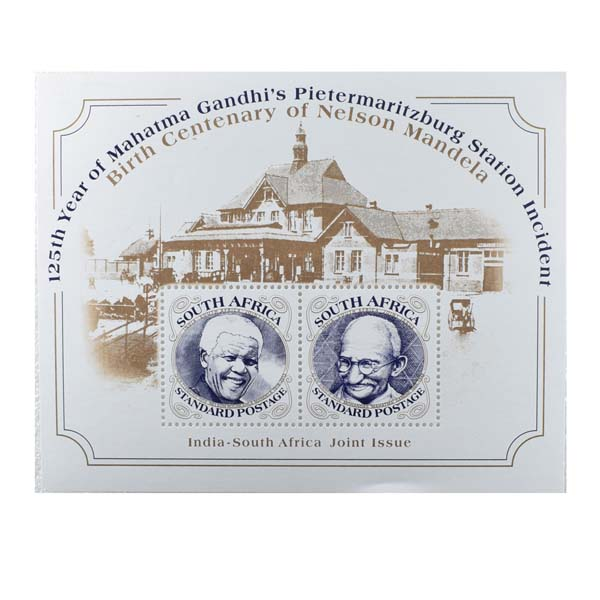 Mahatma Gandhi Postage Stamp - Miniature Sheet of South Africa