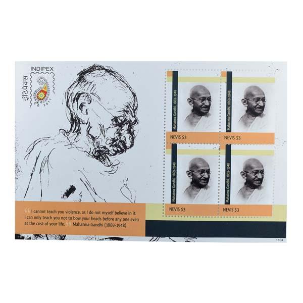 Mahatma Gandhi Postage Stamp - Sheetlet of Nevis