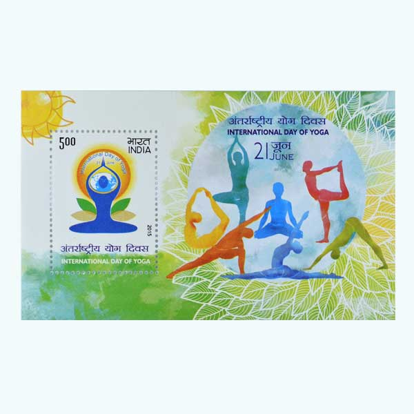International Day of Yoga Miniature Sheet Stamp