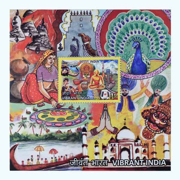 Vibrant India Miniature Sheet Stamp