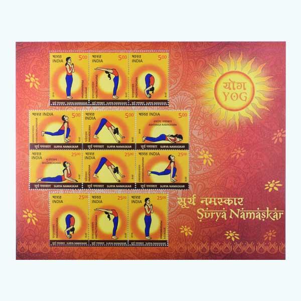 Surya Namaskar Miniature Sheet - 2016