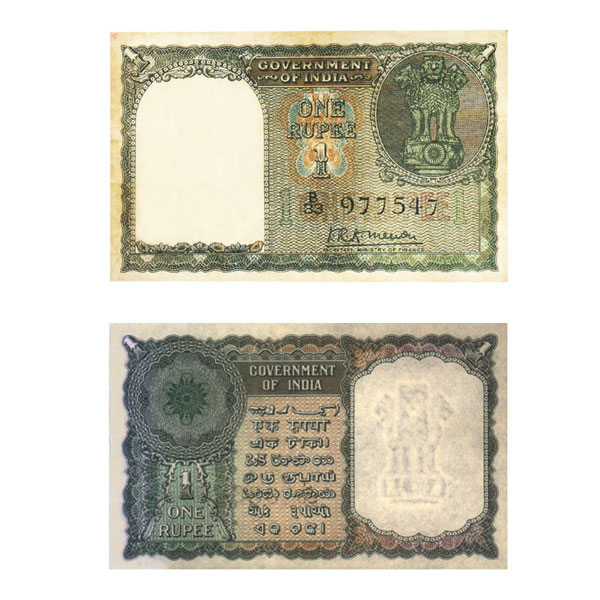 1 Rupee Note of 1949