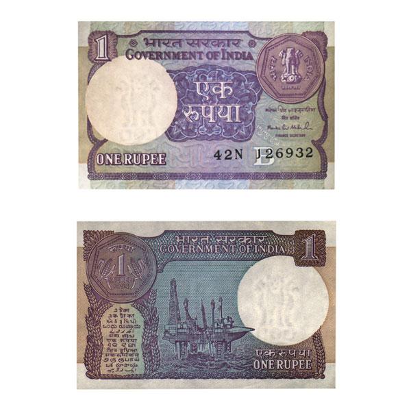 1 Rupee Note of Montek Singh Ahluwalia 1994
