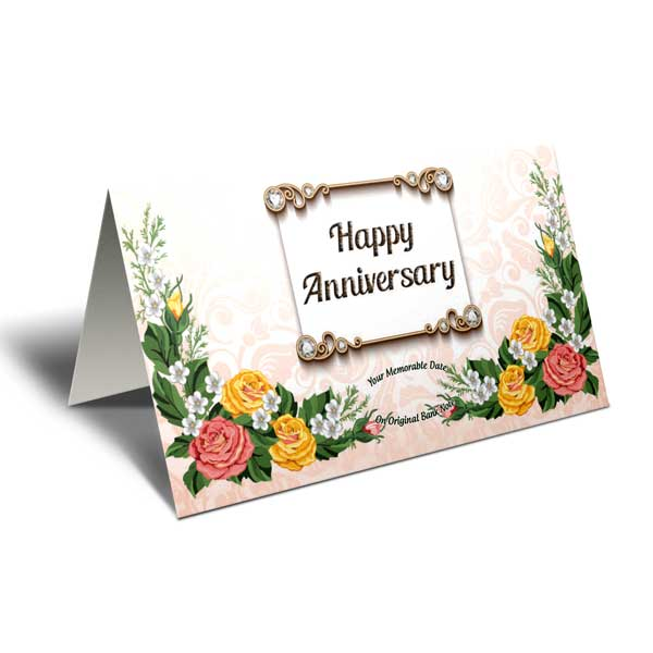 Flowers 1 year dating anniversary card