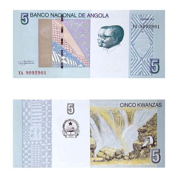 Angola Currency Note 5 Kwanzas