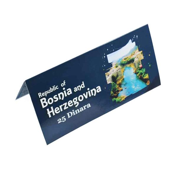 Bosnia and Herzegovina Description Card - 25 Dinara