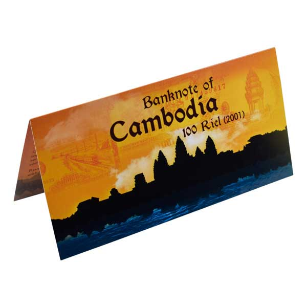 Cambodia Banknote 100 Riel (2001) with Description