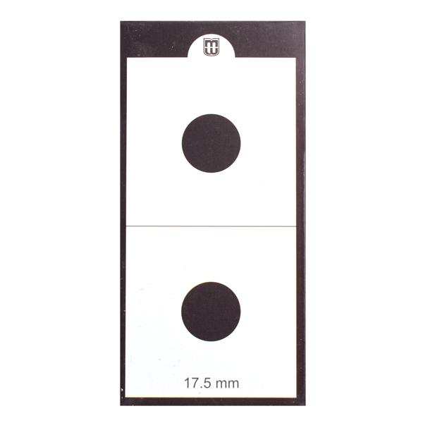 Mintage World 2x2 Cardboard Flip Coin Holder 17.5 mm