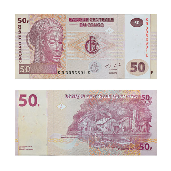 Democratic Republic of the Congo 50 Cinquante Francs Note