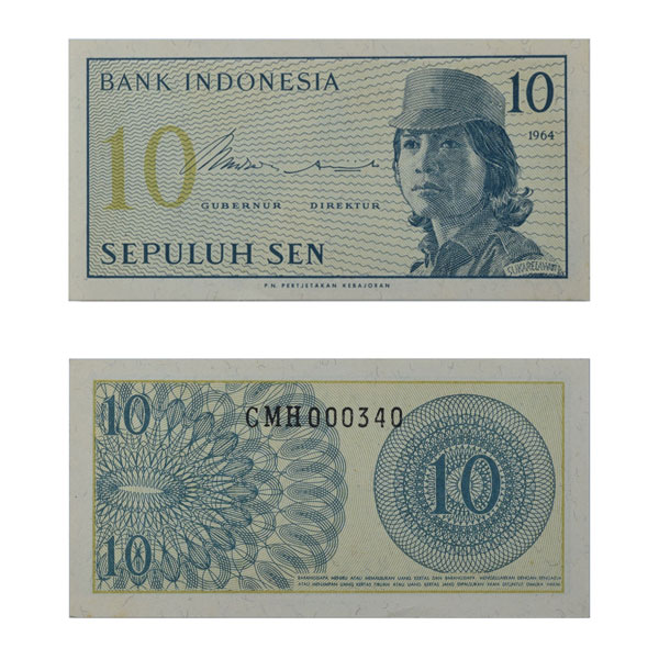 Indonesia 10 Sen Note