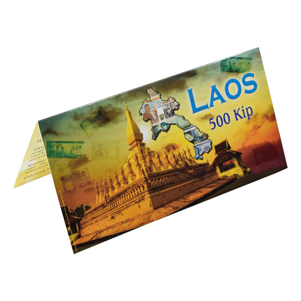Laos Description Card - 500 Kip