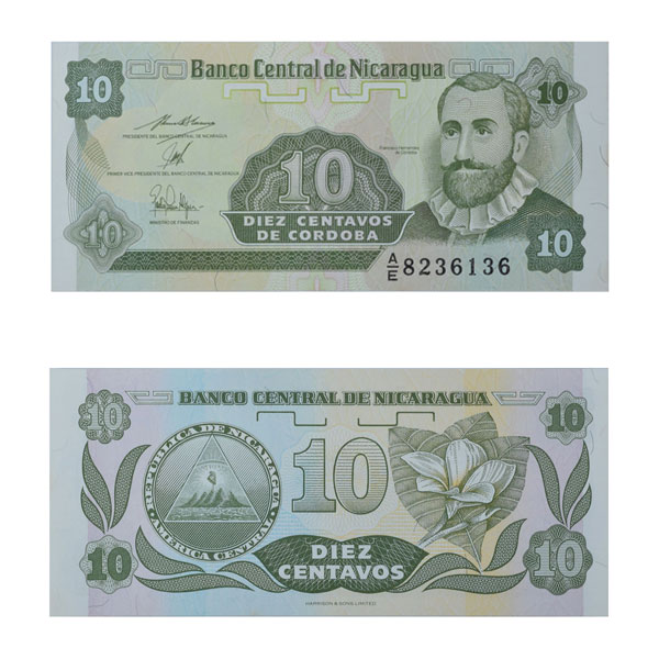 Nicaragua 10 Centavos Note