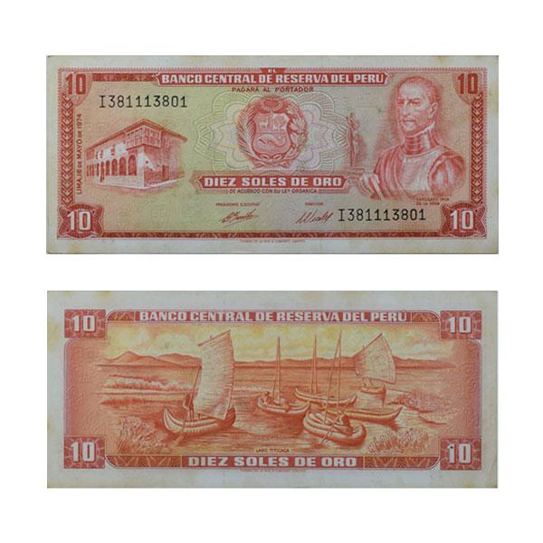 Peru 10 Sol Note
