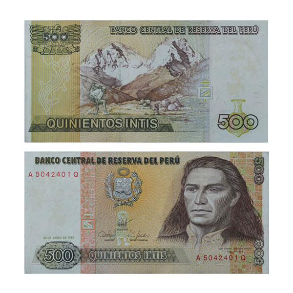 Peru 500 Intis Note