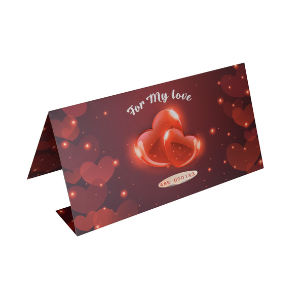 Valentine Gift Card with Personalized Currency Note - Red