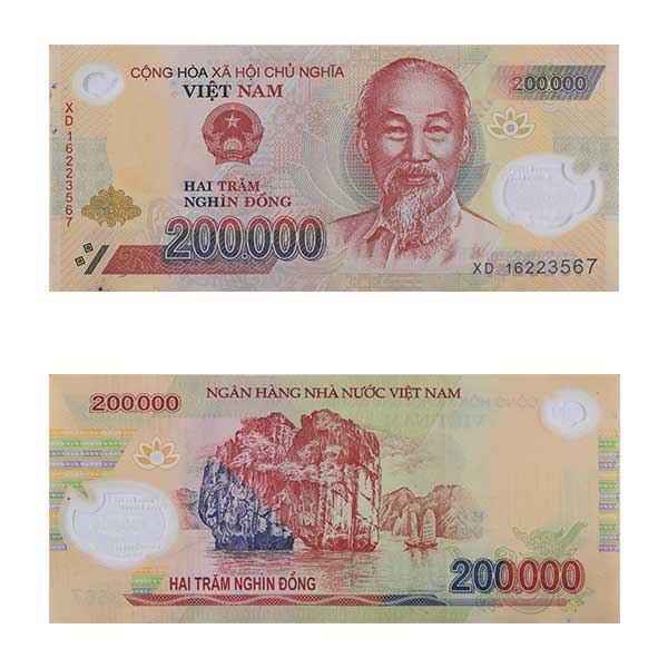 Vietnam Note 200,000 dong