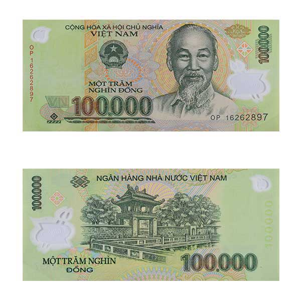 Vietnam Currency Note 100,000 dong