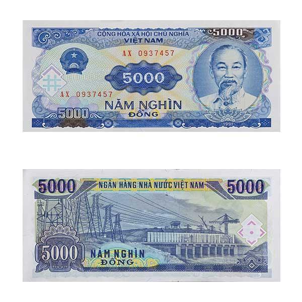 Vietnam Note 5000 dong