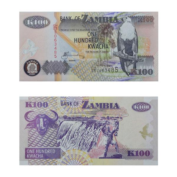 Zambia 100 Kwacha Note