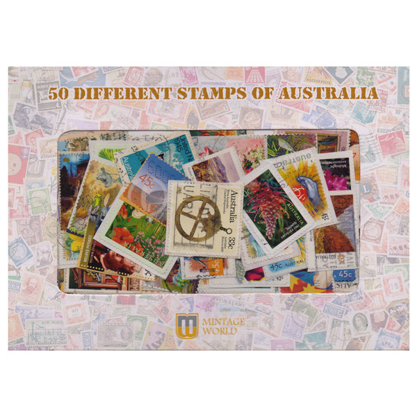 50 Different Stamps of Australia