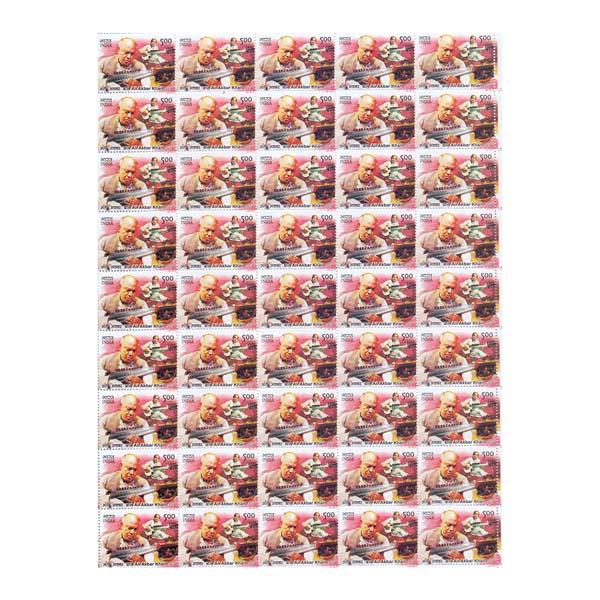 Ali Akbar Khan Full Stamp Sheet 5Rs - 2014
