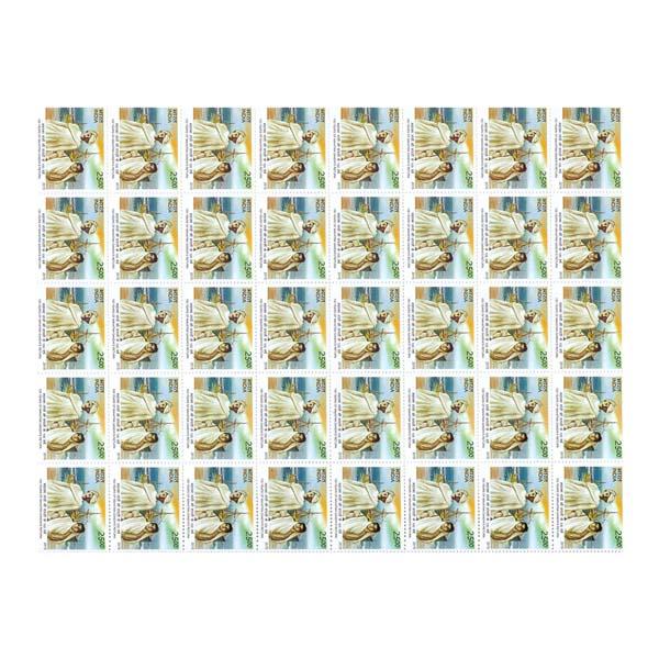 100 Years Of Mahatma Gandhis  Return Full Stamp Sheet 25Rs - 2015