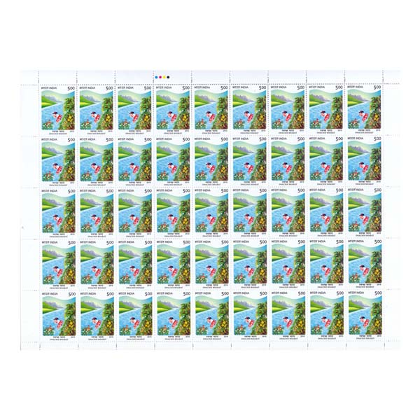 Swachh Bharat Kid Full Stamp Sheet 5Rs - 2015