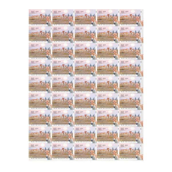 Ghor Khar - Kutch Full Stamp Sheet 20Rs - 2013
