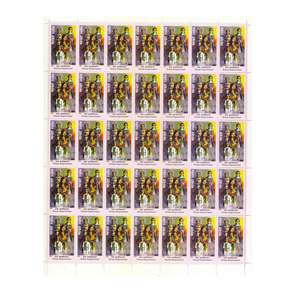 Women Empowerment Doctor Nurse Full Stamp Sheet 5Rs - 2015