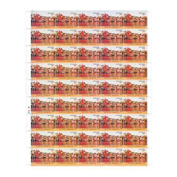 Varanasi City Full Stamp Sheet 5Rs - 2016