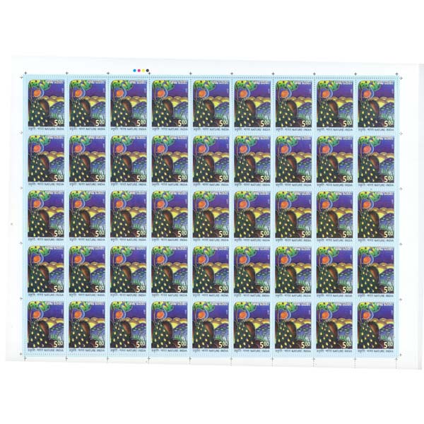 Nature -India  Peacock Full Stamp Sheet 5Rs - 2017