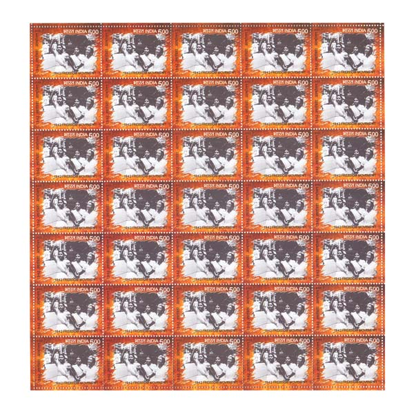 1942 Freedom Movement - Women Followers Full Stamp Sheet 5Rs - 2017
