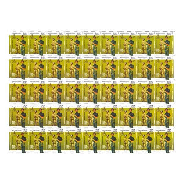 3 Kumaon Rifles Full Stamp Sheet 5Rs - 2017