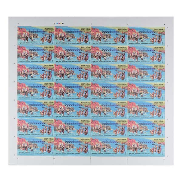 Kumbh Mela Prayagraj Full Stamp Sheet 5Rs - 2019