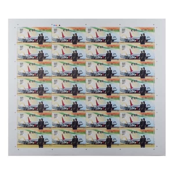 Aero India Full Stamp Sheet 5Rs - 2019