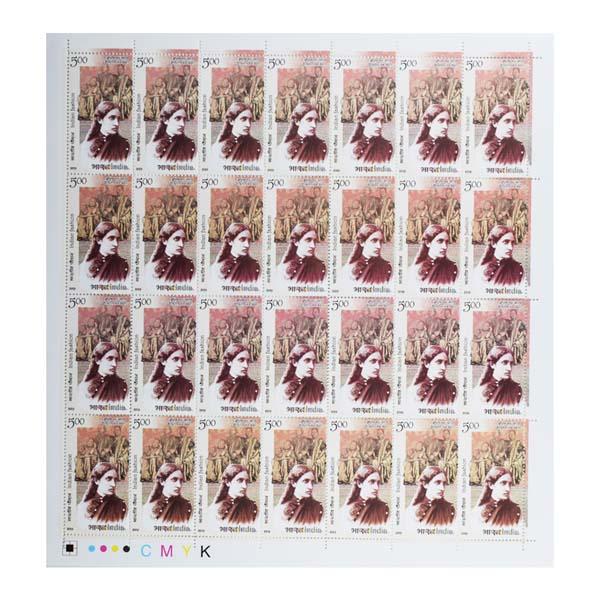 Indian Fashion Brahmika Saree Full Stamp Sheet 5Rs - 2019