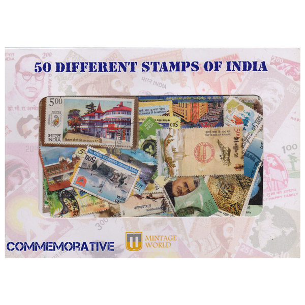 50 Different Commemorative Stamps of India